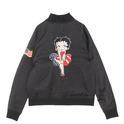 Betty Boop embroidery zip jacket