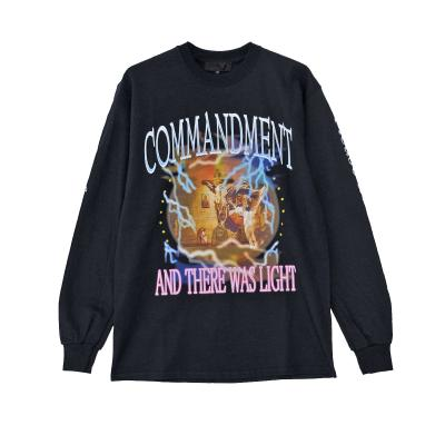 ADVANCE COMMANDMENT AND THERE WAS LIGHT Long sleeve t-shirt