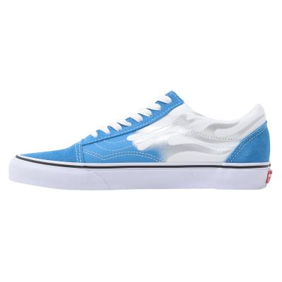 VANS 48 PRS Old Skool (Flame) Mediterranian Blue/True White