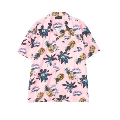 RAZZIS pineapple Open collar shirt