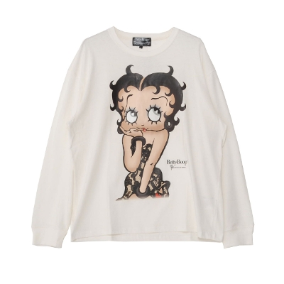 Betty Boop Big print Long sleeve T-shirt