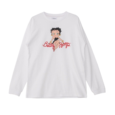 Betty Boop Color Logo print Long sleeve T-shirt