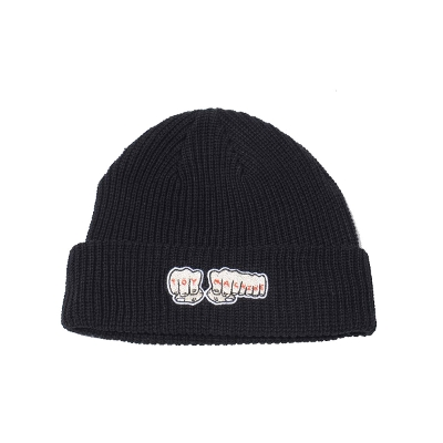 TOY MACHINE BONE Emblem Knit cap
