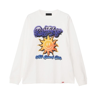 RAZZIS Smile sun Print crew neck long sleeve T-shirt