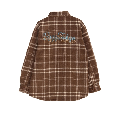 RAZZIS Plaid CPO Wool jacket