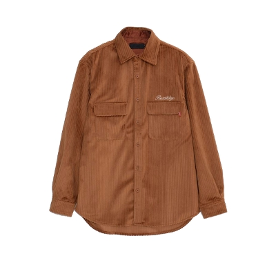 RAZZIS Logo embroidery Corduroy Long sleeve shirt