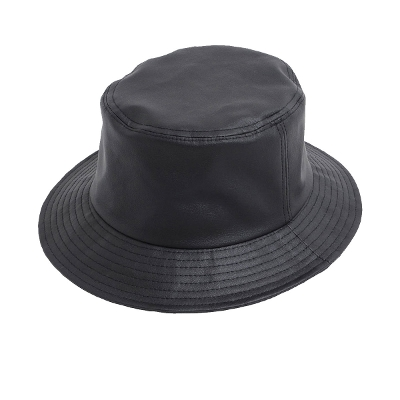 Eco leather bucket hat