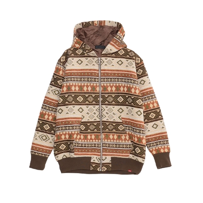 RAZZIS Old native pattern zip up hoodie