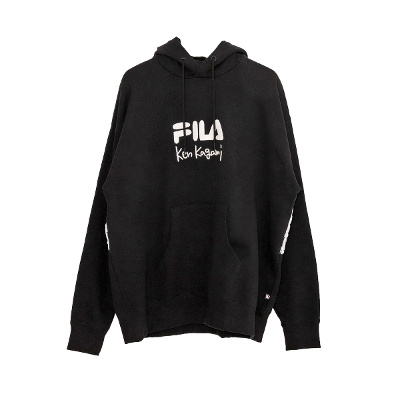 FILA HERITAGE Back nylon Heavyweight long sleeve pull hoodie