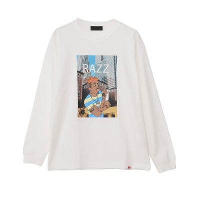 RAZZIS City Gangs Print Crew Neck Long Sleeve T-shirt