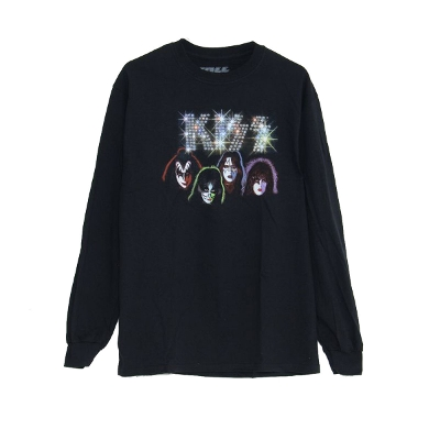 BRAVADO KISS FAUX EMBLLISHED MENS LS TEE